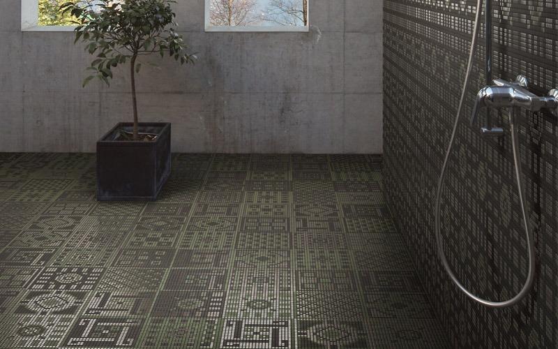 Living noce appiani mosaici per pavimenti living noce - Mosaici per doccia ...