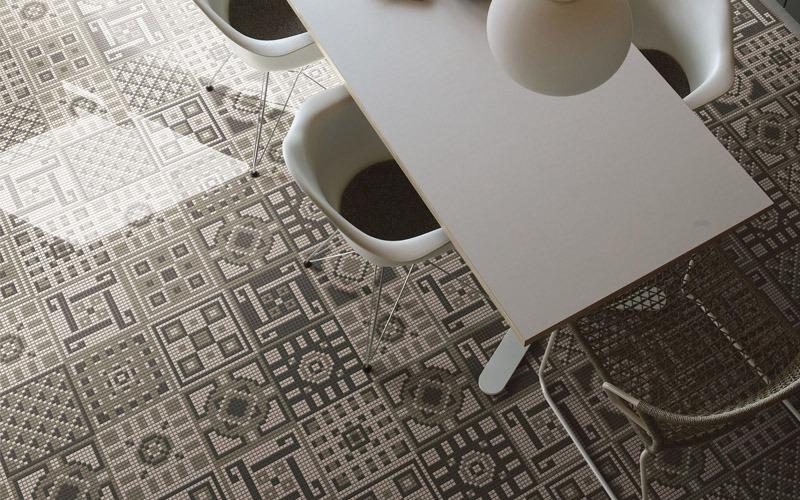 Living Noce Appiani, mosaici per pavimenti - Living Noce