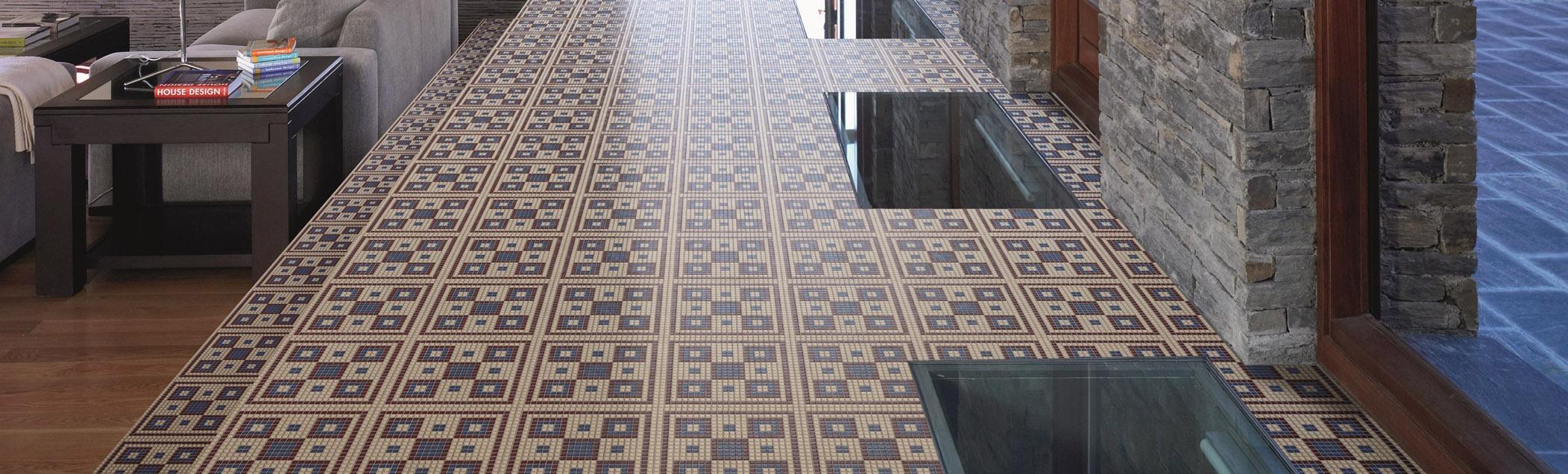Living noce appiani mosaici per pavimenti living noce - Mosaico pavimento bagno ...